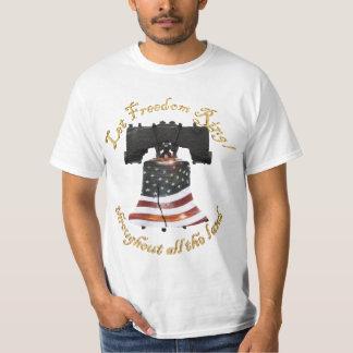 Camiseta Bandera de Liberty Bell w/American - deje el