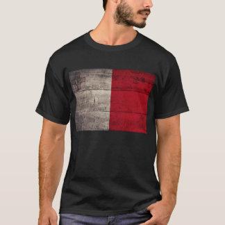 Camiseta Bandera de madera vieja de Malta;