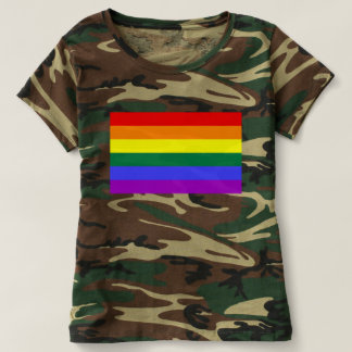 Camiseta Bandera del arco iris del orgullo gay de LGBT