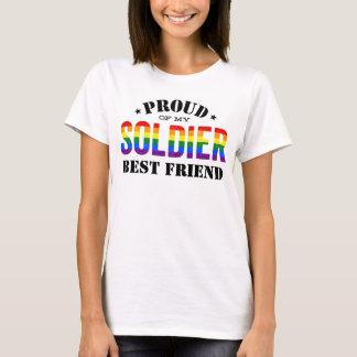 Camiseta Bandera del arco iris del orgullo gay del mejor