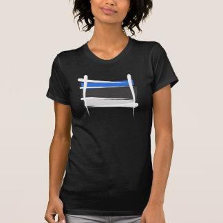 Camiseta Bandera del cepillo de Estonia