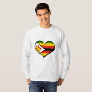 Camiseta Bandera del corazón de Zimbabwe