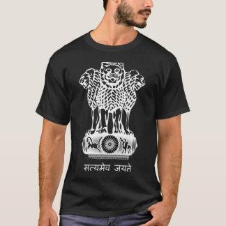 Camiseta Bandera del escudo de armas de la India