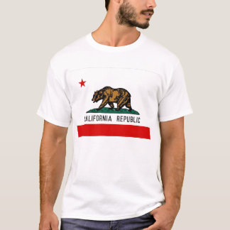 Camiseta Bandera del estado de California