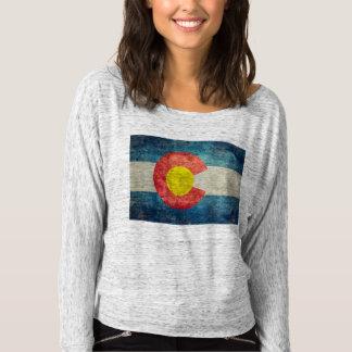 Camiseta Bandera del estado de Colorado con mirada sucia