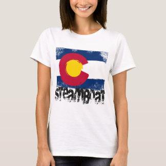 Camiseta Bandera del Grunge del barco de vapor