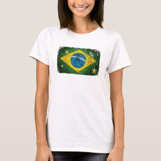 Camiseta Bandera del Grunge del Brasil para los brasilen@os