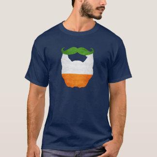 Camiseta Bandera del irlandés de la barba y del bigote