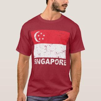 Camiseta Bandera del vintage de Singapur