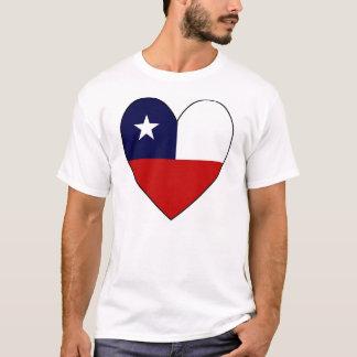 Camiseta Bandera en forma de corazón de Chile