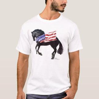 Camiseta Bandera frisia patriótica del caballo
