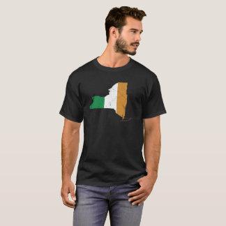 Camiseta Bandera irlandesa sobre Nueva York