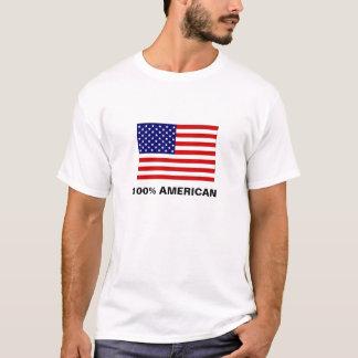 Camiseta bandera los E.E.U.U., AMERICANO del 100%
