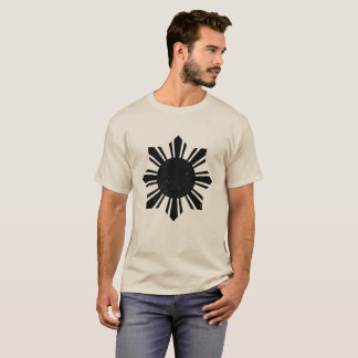Camiseta Bandera negra Filipinas Sun