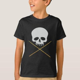Camiseta Bandera pirata del cráneo y del palillo
