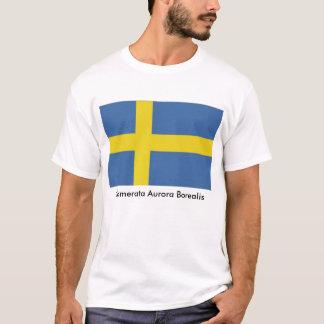 Camiseta Bandera sueca, aurora Borealis de Camerata