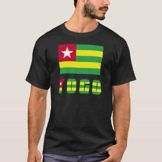 Camiseta Bandera y palabra de Togo