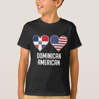 Camiseta Banderas americanas dominicanas del corazón