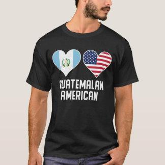 Camiseta Banderas americanas guatemaltecas del corazón
