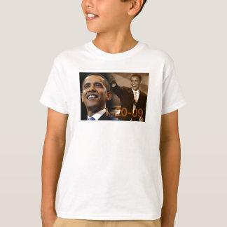 Camiseta Barack Obama 1-20-09 de los niños