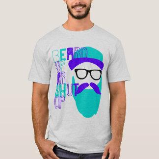 Camiseta barba ascendente o cerrada