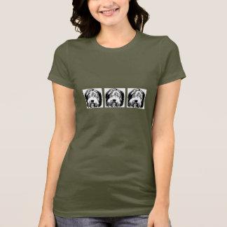 Camiseta barbuda del dibujo animado del collie