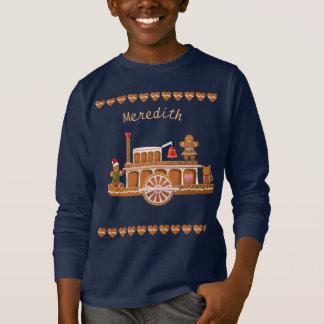 Camiseta Barco de vapor del navidad del pan de jengibre