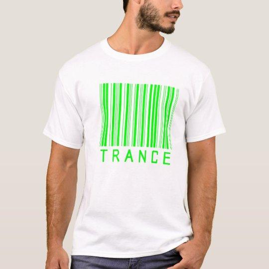 Camiseta barcod de la música del trance
