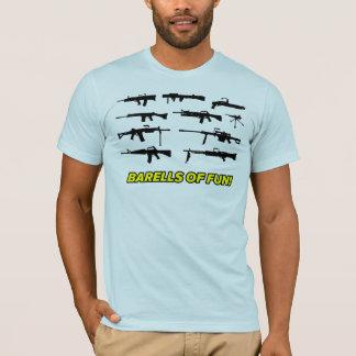 Camiseta Barells del diseño del arma de la diversión
