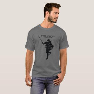 Camiseta basada del hombre del palillo