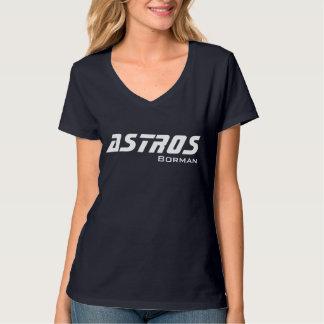 Camiseta básica de ASTROS Borman con la fuente del
