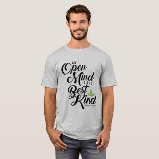 Camiseta básica de la mente abierta de Cannatopia
