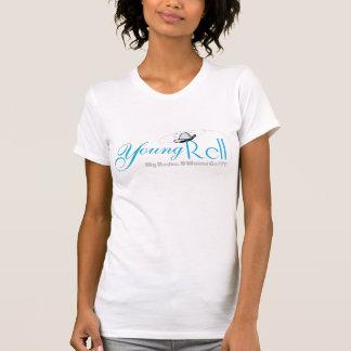 Camiseta básica de las señoras escarpada