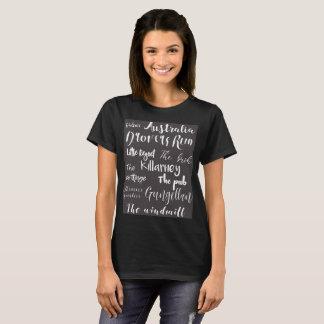 Camiseta básica de las ubicaciones de las hijas de