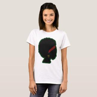 Camiseta básica del Afro natural de la mujer