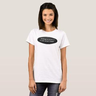 Camiseta básica del blanco de las mujeres