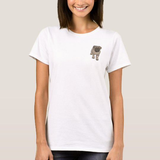 Camiseta básica del bolsillo de las mujeres -
