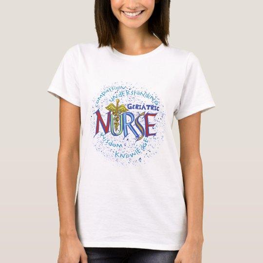 Camiseta básica para mujer del lema geriátrico de