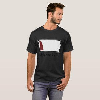 Camiseta Batería baja que muestra la paciencia baja dejada