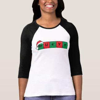 Camiseta Be.Li.e.V.e {la tabla periódica cree}