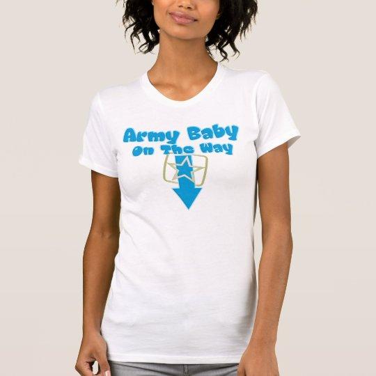 Camiseta Bebé del ejército en la manera (azul)