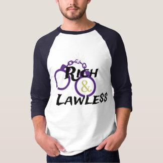 Camiseta Béisbol rico y sin ley T