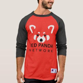 Camiseta Béisbol rojo T de la panda roja