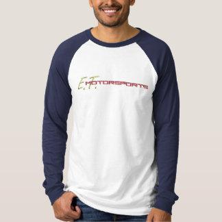 Camiseta Béisbol T (blanco/marina de guerra) del logotipo