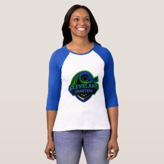 Camiseta Béisbol T de las señoras de los prácticos de costa