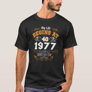 Camiseta Belinto - mi vida comienza en las 40.as leyendas