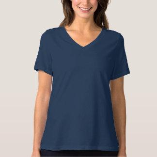 Camiseta Bella de las mujeres+Camiseta del cuello en v del