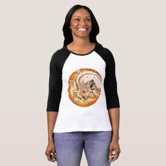 Camiseta Bella de las mujeres chinas del dragón 3/4