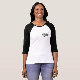 Camiseta Bella de las mujeres de los azules de la media