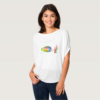 Camiseta Bella de las mujeres de los pescados de mar+Top